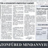 SZIT - Balatonfüredi Szolgáltató Ipartestület 1999