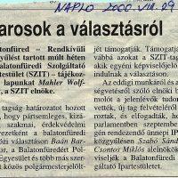 SZIT - Balatonfüredi Szolgáltató Ipartestület 2000