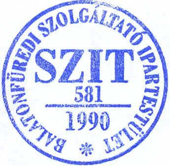 SZIT - Balatonfüredi Szolgáltató Ipartestület pecsét